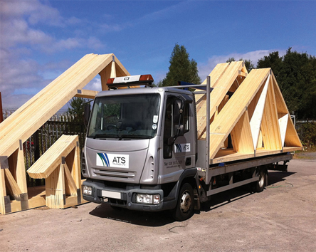 ATS Deliver Trusses all over the UK and Ireland